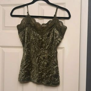 Velvet and lace Tank cami